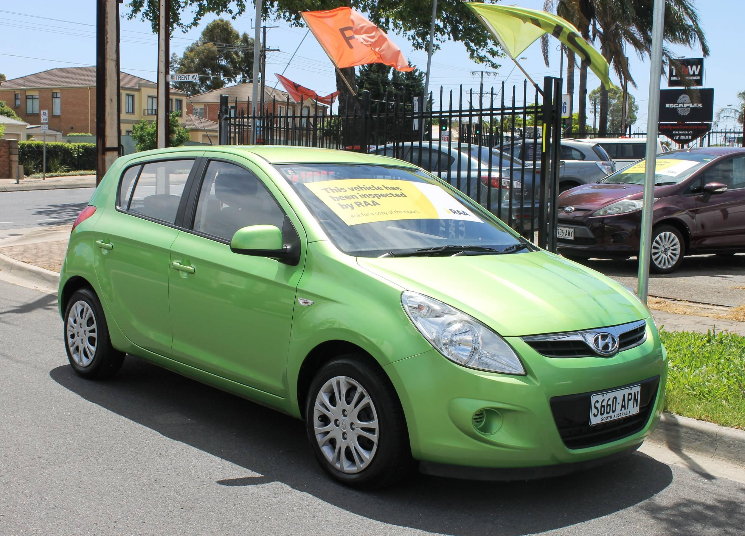 2011 Hyundai I20 PB MY12 ACTIVE