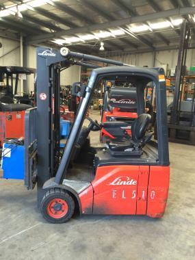 Linde E14C CONTAINER MAST ELECTRIC FORKLIFT