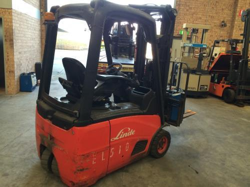2007 Linde E14C CONTAINER MAST ELECTRIC FORKLIFT